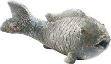 Home affaire Dekofigur Fisch 45x18 cm grau