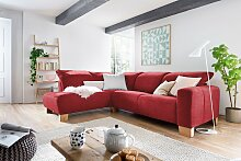 Home affaire Ecksofa Hörnum Luxus-Microfaser