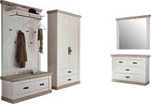 Home affaire Garderoben-Set Florenz, (4-St),