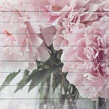 Home affaire Holzbild Blumenstrauß, 40/40 cm B/H: