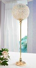 Home affaire Kerzenständer 21x21x70 cm goldfarben