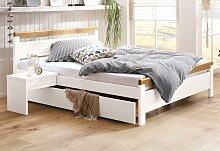 Home affaire Massivholzbett Capre 140x200 cm weiß