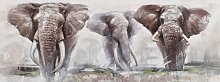 Home affaire Ölbild Elephant, Elefanten B/H/T: