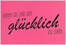 Home affaire Wandspruch 80x30 cm schwarz