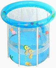 Home aufblasbare Pools Kind aufblasbare Badewanne Baby aufblasbares Schwimmbecken Pool dicker Keep Warm faltbar Ocean Ball Pool Planschbecken Wasser Spielplatz wxp- Rundbecken, Large