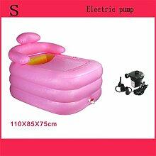 Home Aufblasbare Schwimmbäder Aufblasbare Badewanne Eindickung Erwachsene Badewanne Faltbare Kind nehmen Sie ein Bad Badewanne Kunststoff Bad Fässer Geschenk Four Seasons Rosa-Grün WXP-Schwimmbecken ( Farbe : #3 )