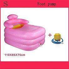 Home Aufblasbare Schwimmbäder Aufblasbare Badewanne Eindickung Erwachsene Badewanne Faltbare Kind nehmen Sie ein Bad Badewanne Kunststoff Bad Fässer Geschenk Four Seasons Rosa-Grün WXP-Schwimmbecken ( Farbe : #1 )