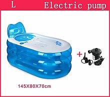 Home Aufblasbare Schwimmbäder Aufblasbare Badewanne Eindickung Erwachsene Badewanne Faltbare Kind nehmen Sie ein Bad Badewanne Kunststoff Bad Fässer Geschenk Four Seasons Blau WXP-Schwimmbecken ( Farbe : #4 )