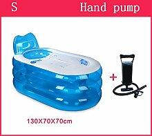 Home Aufblasbare Schwimmbäder Aufblasbare Badewanne Eindickung Erwachsene Badewanne Faltbare Kind nehmen Sie ein Bad Badewanne Kunststoff Bad Fässer Geschenk Four Seasons Blau WXP-Schwimmbecken ( Farbe : #1 )