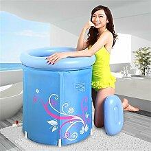Home Aufblasbare Schwimmbäder Aufblasbare Badewanne Eindickung plus Baumwolle Erwachsene Badewanne Faltbare Kind nehmen Sie ein Bad Badewanne Kunststoff Bad Fässer Geschenk Warmhalte Blau WXP-Schwimmbecken ( größe : 65*65cm )