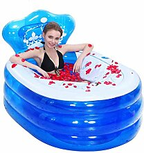 Home Aufblasbare Schwimmbäder Aufblasbare Badewanne verdicken Erwachsene Badewanne Faltbare Kind Badestelle Badewanne Kunststoff Badewanne Geschenk Four Seasons niedlich einfach WXP-Schwimmbecken ( Farbe : Blau )