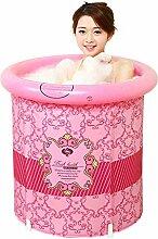 Home Aufblasbare Schwimmbäder Aufblasbare Badewanne verdicken Erwachsene Badewanne Faltbare Kind baden Badewanne Kunststoff Badewanne Geschenk Four Seasons rosa kreativ WXP-Schwimmbecken ( größe : 58*70cm )