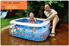Home Aufblasbare Schwimmbäder Baby Kind Aufblasbarer Swimmingpool Familie Marinekugel Pool Erwachsene Planschbecken Aufblasbare Badewanne Teich Wasserspielplatz Unterwasserwelt WXP-Schwimmbecken ( ausgabe : Electric Pump , größe : 120*90*45cm )