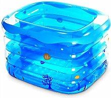 Home Aufblasbare Schwimmbäder Kind Aufblasbare Badewanne Baby Aufblasbare Pool Dicker Halten Warm Schwimmbad Faltbare Ozean Ball Pool Paddling Pool Wasserspielplatz WXP-Schwimmbecken ( Farbe : #1 )