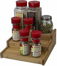 Home Basics Bambus-Küchenschrank, erweiterbar,