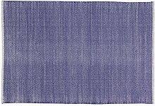 Home Basics hm1m Teppich für Haus, Baumwolle, Marineblau, 120x 180cm