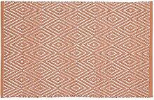 Home Basics Hm10a Teppich für Haus, Baumwolle, Coral, 60x 90cm