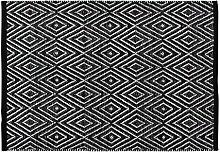 Home Basics hm11a Teppich für das Zuhause, Baumwolle, Schwarz, 60x 90cm