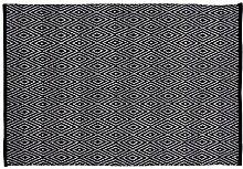 Home Basics hm11m Teppich für Haus, Baumwolle, Schwarz, 120x 180cm