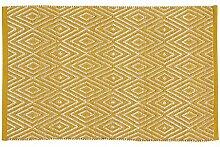 Home Basics hm12a Teppich für Haus, Baumwolle, Senf, 60x 90cm