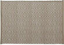 Home Basics hm13a Teppich für Haus, Baumwolle, Leinen, 60x 90cm