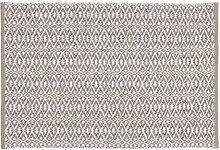 Home Basics hm15a Teppich für Haus, Baumwolle, Leinen, 60x 90cm