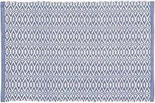 Home Basics hm16a Teppich für das Zuhause, Lavendel, Baumwolle, Blau, 60x 90cm