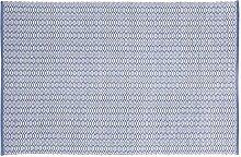 Home Basics hm16m Teppich für Haus, Baumwolle, Blau Lavendel, 120x 180cm