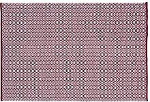 Home Basics hm17m Teppich für Haus, Baumwolle, bordeaux, 120x 180cm
