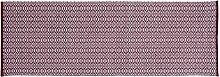 Home Basics hm17p Teppich für Haus, Baumwolle, bordeaux, 70x 200cm