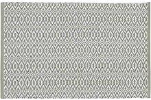 Home Basics hm18a Teppich für Haus, Baumwolle, Olivgrün, 60x 90cm
