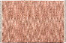 Home Basics hm2a Teppich für Haus, Baumwolle, Coral, 60x 90cm