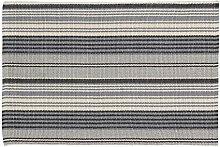 Home Basics HM7A Teppich für Haus, Baumwolle, Blau Frankreich, 60x 90cm