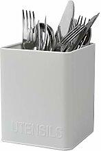 Home Basics Küchenutensilienhalter aus Blech, mit