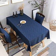 Home Brilliant Marineblaue Tischdecke, solide,