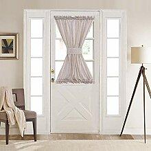 Home Brilliant Premium weicher Leinen-Vorhang für