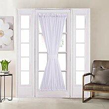 Home Brilliant Premium weißer Leinen-Vorhang für