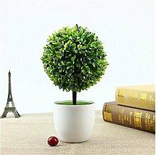 Home Decor Lila Künstliche Retro Pflanzen im Topf, Kunststoff Blumen Mini Baum , 011