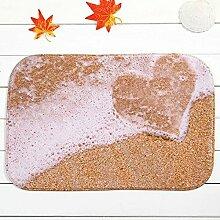 Home Decor Sand Strand Herz Romantik Badezimmer Teppich Teppich Fußmatte Pad Fußmatte 40* 60cm Badezimmer Tools