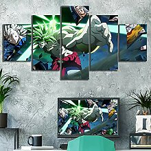 Home Decoration Hd Prints 5 Pieces Pictures Anime
