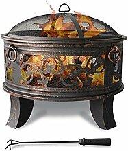 Home&Decorations Feuerschale mit Grillrost,
