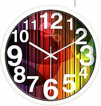 Home Dekoration Ideen-uhr/Pastorale Ruhigen Wohnzimmer Wanduhr/Clock-A 12Zoll