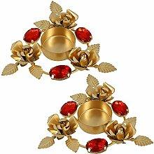 Home Dekoration Indische Diwali Geschenke Lichter Kerze Halter Set Von 2 Blumenarrangements
