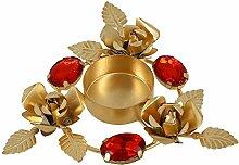 Home Dekoration Indische Weihnachten Geschenke Lichter-Kerze-Halter-Blumenarrangements
