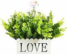 Home Dekoration Künstliche Faux Hochzeit Seide Blumen Busch mit Korb,b