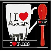 Home Dekoration Mug I Love Paris bun