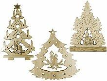 Home Dekoration Weihnachtsbäume, Holz, Holz