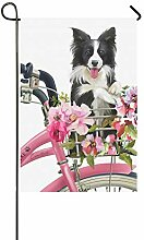 Home Dekorative Outdoor Double Sided Puppy Collie