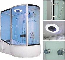 Home Deluxe ALL IN 4in1 Duschtempel, inkl. Dampfsauna und komplettem Zubehör (weiß, rechts)