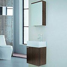 Home Deluxe | Badmöbel-Set | Langeoog | Holz | inkl. Waschbecken und komplettem Zubehör